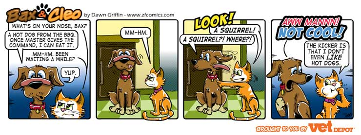 bax & cleo comic strip sneaky treat