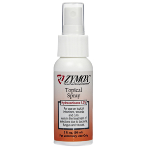 Zymox Topical Spray Hydrocortisone Free 2 Oz Vetdepot Com