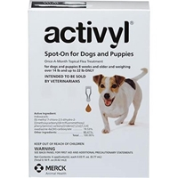 Activyl Spot-On for Dogs and Puppies, Over 14 lbs - 22 lbs 6 Month Supply Activyl, Spot-On, Dogs, Puppies, Over 14 lbs-22 lbs, 6 Month Supply