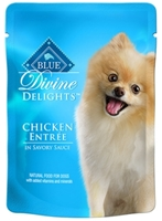 Blue Buffalo Divine Delights Wet Small Breed Dog Food, Chicken Entr?e, 3 oz, 12 Pack