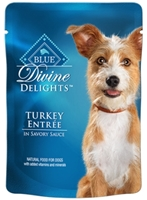 Blue Buffalo Divine Delights Wet Small Breed Dog Food, Turkey Entr?e, 3 oz, 12 Pack