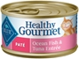 Blue Buffalo Healthy Gourmet Wet Cat Food, Ocean Fish and Tuna Pat?, 3 oz, 24 Pack