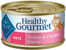 Blue Buffalo Healthy Gourmet Wet Cat Food, Turkey and Chicken Pat?, 5.5 oz, 24 Pack