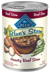 Blue Buffalo Wet Dog Food Blue?s Stew, Hearty Beef Stew, 12.5 oz, 12 Pack