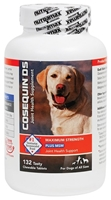 Cosequin DS (Double Strength) Plus MSM for Dogs, 132 Chewable Tablets