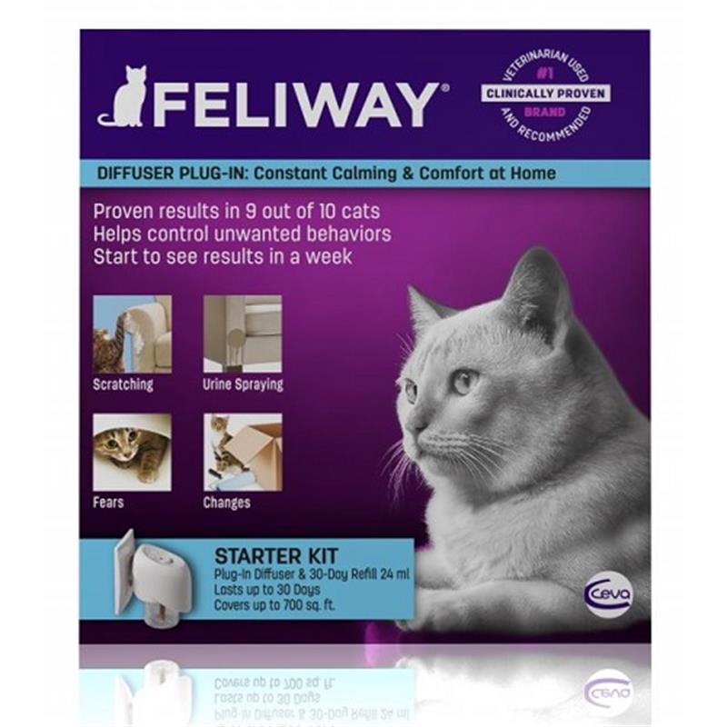 Feliway Diffuser Plug-In Starter Kit for Cats