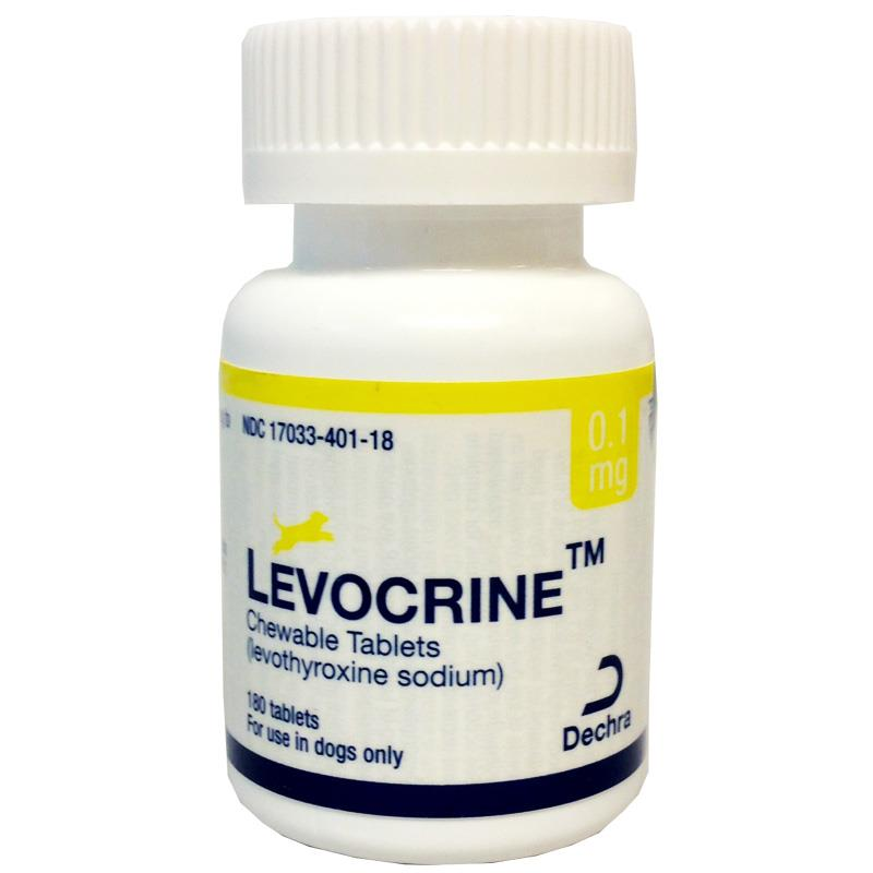 Levocrine Chewable Tablets, 0.1 mg, 180 ct.