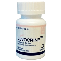 Levocrine Chewable Tablets, 0.2 mg, 180 ct.