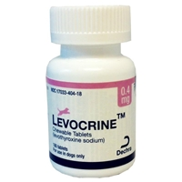 Levocrine Chewable Tablets, 0.4 mg, 180 ct.Levocrine Chewable Tablets, 0.4 mg, 180 ct.