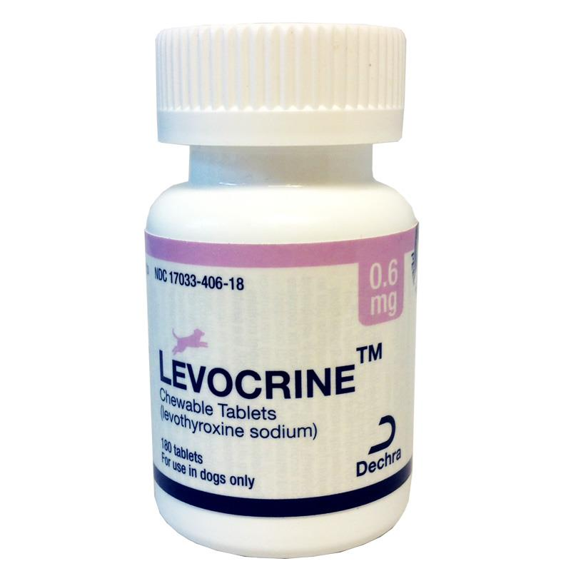 Levocrine Chewable Tablets, 0.6 mg, 180 ct.