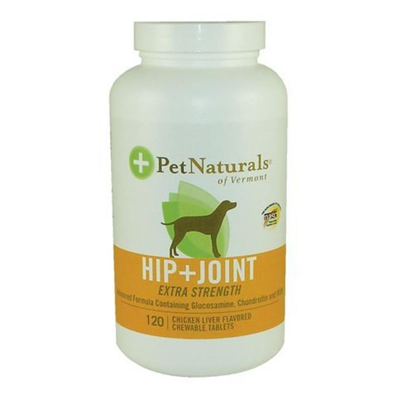 Pet Naturals Hip & Joint Extra Strength Tablets for Dogs, 120 ct.