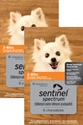 Sentinel Spectrum for Dogs 2-8 lbs, 12 Month (Orange)