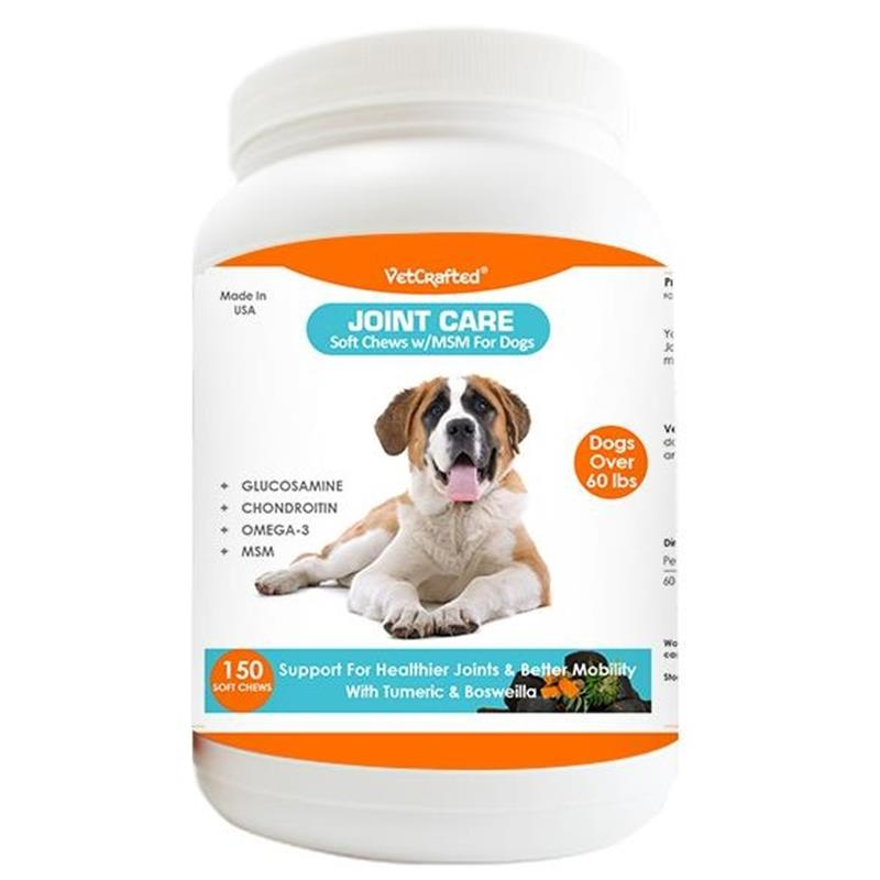 VetCrafted Joint Care Soft Chews with MSM for Large Dogs, 150 ct.