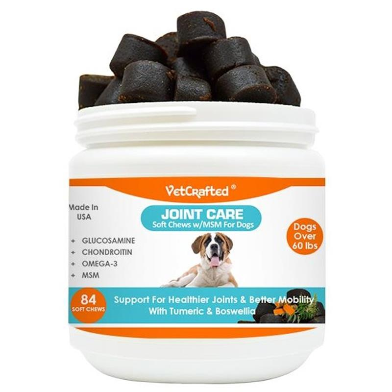 VetCrafted Joint Care Soft Chews with MSM for Large Dogs, 84 ct.