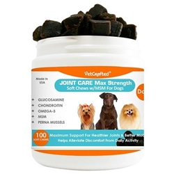 Vetcrafted Joint Care Max Strength Soft Chews with MSM for Dogs, 100 ct.