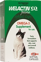 Welactin 3 Feline, 60 Softgel Capsules Welactin, Welactin for cats, discount Welactin, cheap Welactin, nutritional supplement, natural salmon oil supplement for cats