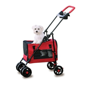 3 in 1 Pet Stroller, Red