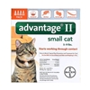 Advantage II for Cats 1-9 lbs, Orange, 4 Pack