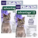 Advantage II for Cats 9-18 lbs, Purple, 12 Pack