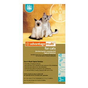 Advantage Multi For Cats and Kittens 2-5 lbs, Turquoise, 6 Pack