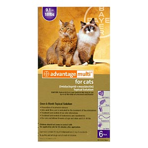 Advantage Multi For Cats and Kittens 9-18 lbs, Purple, 12 Pack