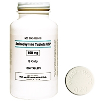 Aminophylline 100 mg, 1000 Tablets