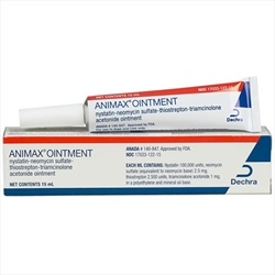 Animax Ointment, 15 mL animax ointment 15ml indicated bacterial fungal inflammatory skin otic conditions dogs cats petmeds