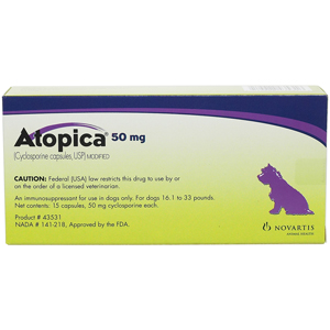 Atopica For Dogs 50 Mg Purple 15 Capsules Vetdepot Com