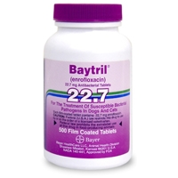 Baytril 22.7 mg, 500 Coated Tablets