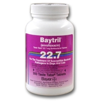Baytril 22.7 mg, 500 Taste Tablets