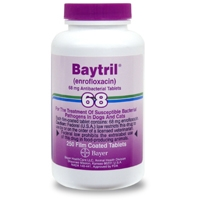 Baytril (enrofloxacin) 68 mg, 250 Enteric Coated Tablets