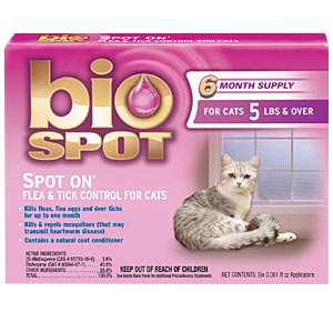 Bio Spot Spot On Flea & Tick Control for Cats Over 5 lbs, 6 Pack
