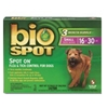 Bio Spot Spot On Flea & Tick Control for Dogs 16-30 lbs, 3 Pack