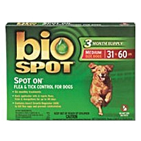 Bio Spot Spot On Flea & Tick Control for Dogs 31-60 lbs, 3 Pack