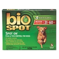 Bio Spot Spot On Flea & Tick Control for Dogs 31-60 lbs, 6 Pack