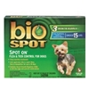 Bio Spot Spot On Flea & Tick Control for Dogs Under 15 lbs, 6 Pack