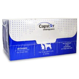 Capstar for Cats and Dogs 2-25 lbs, 60 Tablets (Blue)