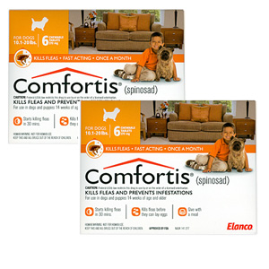 Comfortis 270mg for Cats 6.1-12 lbs & Dogs 10-20 lbs, 12 Pack (Orange)