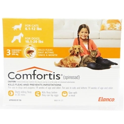 Comfortis 270mg for Cats 6.1-12 lbs & Dogs 10-20 lbs, 3 pack (Orange) Comfortis for dogs, flea control for dogs, dogs Comfortis, dogs, cheap Comfortis dogs, discount Comfortis dogs, dogs flea control, 6 pack Comfortis for dogs orange