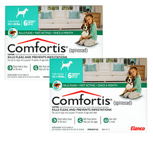 Comfortis 560mg for Cats 12.1-24 lbs & Dogs 20-40 lbs, 12 Pack (Green)