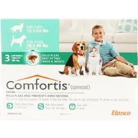 Comfortis 560mg for Cats 12.1-24 lbs & Dogs 20-40 lbs, 3 Pack (Green) Comfortis for dogs, flea control for dogs, dogs Comfortis, dogs, cheap Comfortis dogs, discount Comfortis dogs, dogs flea control, 6 pack Comfortis for dogs green