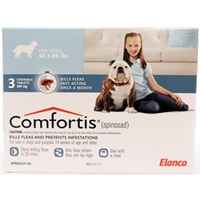 Comfortis 810mg for Dogs 40-60 lbs, 3 Pack (Blue)