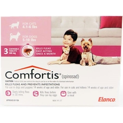 Comfortis 140mg for Cats 4.1-6 lbs & Dogs 5-10 lbs, 3 Pack (Pink) Comfortis for dogs, flea control for dogs, dogs Comfortis, dogs, cheap Comfortis dogs, discount Comfortis dogs, dogs flea control, 6 pack Comfortis for dogs pink