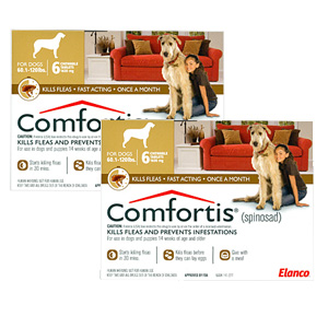 Comfortis for Dogs 60-120 lbs, 12 Pack (Brown)