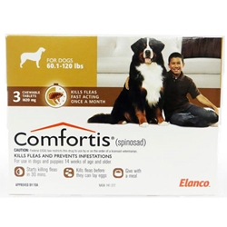 Comfortis for Dogs 60-120 lbs, 3 Pack (Brown) Comfortis for dogs, flea control for dogs, dogs Comfortis, dogs, cheap Comfortis dogs, discount Comfortis dogs, dogs flea control, 3 pack Comfortis for dogs brown