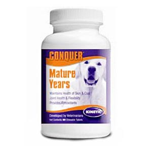 Conquer K9 Mature Years 3+, 60 Chewables