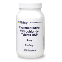 Cyproheptadine 4 mg, 100 Tablets