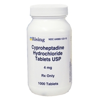 Cyproheptadine 4mg, 1000 Tablets
