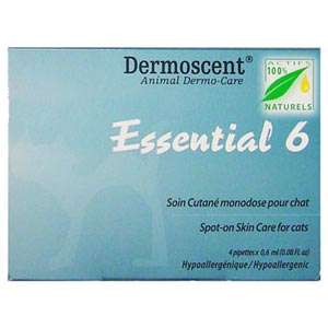 Dermoscent Essential 6 Spot-On Skin Care for Cats, 4 Tubes