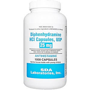 Diphenhydramine 25 Mg 1000 Capsules Vetdepot Com